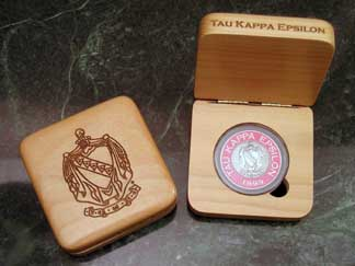 Tau Kappa Epsilon laser engraved AirTite holder presentation box