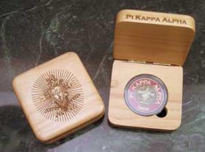 Pi Kappa Alpha laser engraved AirTite holder presentation box